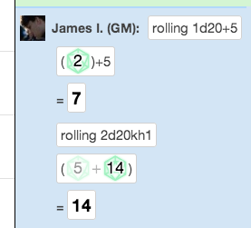 Simple commands for complex dice rolling and math! No, roll20 is not paying me.