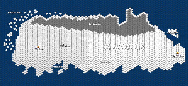 Map of Glacius