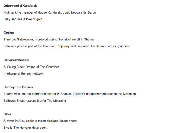 And here's a very small piece of the wiki, but you get the idea.