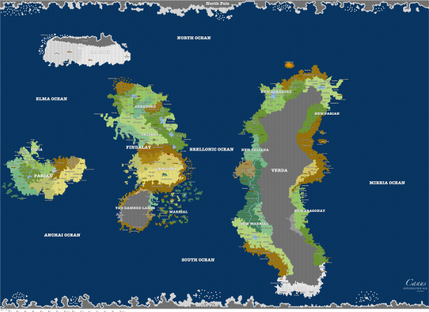 My latest map of Canus... still needs some tweaks