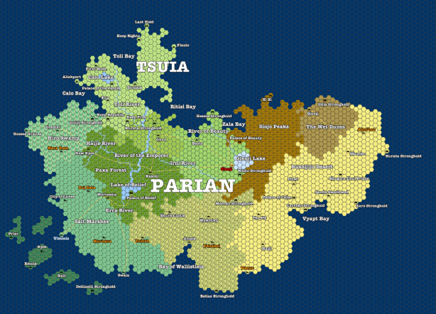 Map of Parian