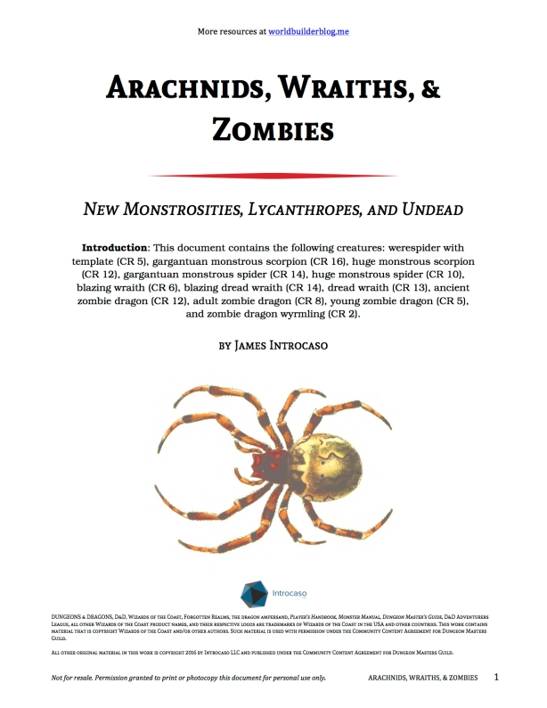 ArachnidsWraiths&Zombies_Introcaso_20160309_Cover